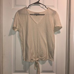 Madewell Tie-Front Tee